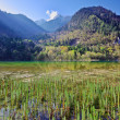 Stock Photo: Mountain lake morning in Jiuzhaigou Valley, Sichuan, China