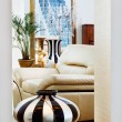 Part of modern art deco style drawing-room interior with striped — Stock Photo #4739518