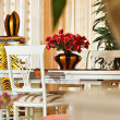 Stock Photo: Part of modern art deco styledining room interior