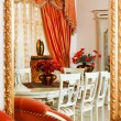 Part of modern art deco style dining room interior with striped — Stock Photo #4739523