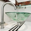 Stock Photo: Glass sink bowl in modern minimalism bathroom interior
