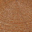 Golden beadwork texture background with round lines pattern - Stock Photo
