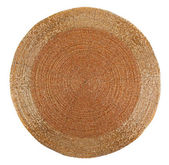 Golden beadwork table mat with round lines pattern — Stock Photo