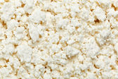 Cottage cheese (curd) top view, background — Stock Photo