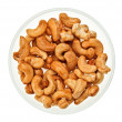 Unshelled cashew nuts in a glass bowl — Stock Photo #4988264
