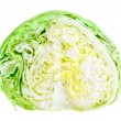 Half of fresh green iceberg lettuce — Foto de Stock