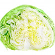 Half of fresh green iceberg lettuce — Stock Photo