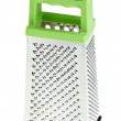 Multi purpose stainless steel grater with green plastic handle - ストック写真