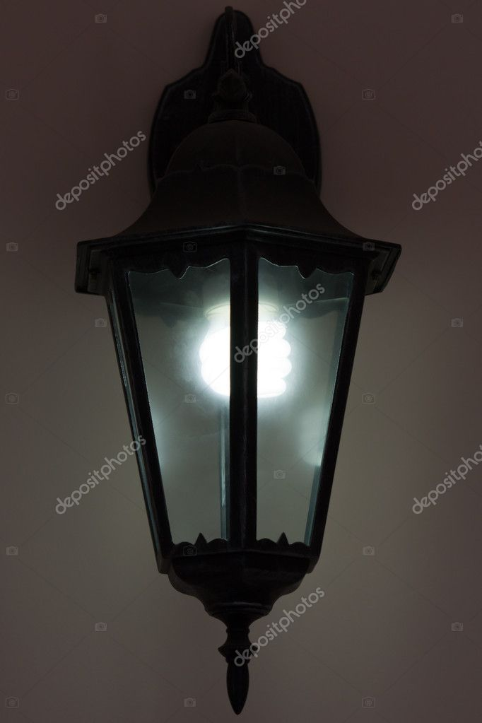 Energy saving bulb in light equipment lantern lamp — Stock Photo #3992199