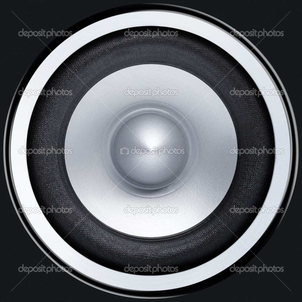 Stereo music audio equipment bass sound speaker  Stock Photo #4304128