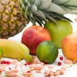 Multi fruit vitamin food - Stock Photo