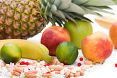 Multi fruit vitamin food — Stock Photo