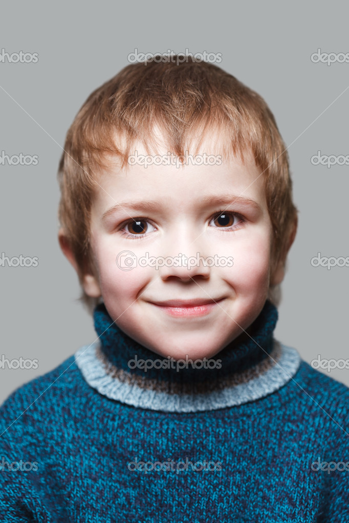 Little cheerful child boy happiness fun smiling  Stock Photo #4517197