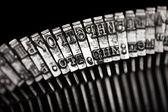 Máquina de escribir carta typebar — Foto de Stock
