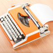 Stock Photo: Typescript typing typewriter