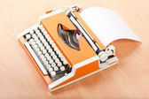 Typescript typing typewriter — Stock Photo
