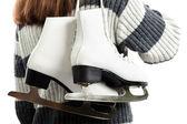 Mujeres con patines de hielo — Foto de Stock