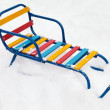 Snow sled — Stock Photo
