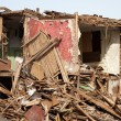Disaster ruined house - Stock Photo