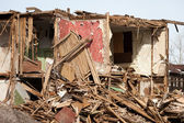 Maison en ruine en cas de catastrophe — Photo