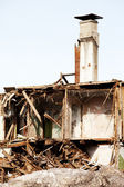 Disaster ruined house — Stock Photo