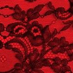 黑色和红色细花边纹理 — 图库照片