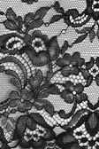 Texture floral dentelle fine noire — Photo