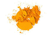 オレンジ色のアイシャドウを粉砕 — ストック写真
