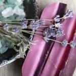 Handmade lavender and camomile soap bars bath salt and dryed lav — Stock Photo #4478006