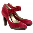 Red women suede high heel shoes — Stock Photo