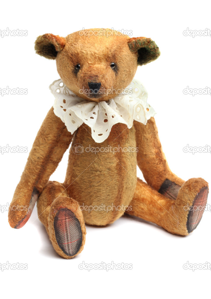 Vintage Teddy Bear isolated on white — Stock Photo #4854570