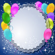 Magic floral background with balloons - Grafika wektorowa