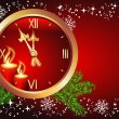 Christmas background with chimes — 图库矢量图片