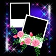 Royalty-Free Stock Vector Image: Page layout photo album with roses