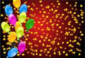 Tło z balonów i konfetti — Wektor stockowy