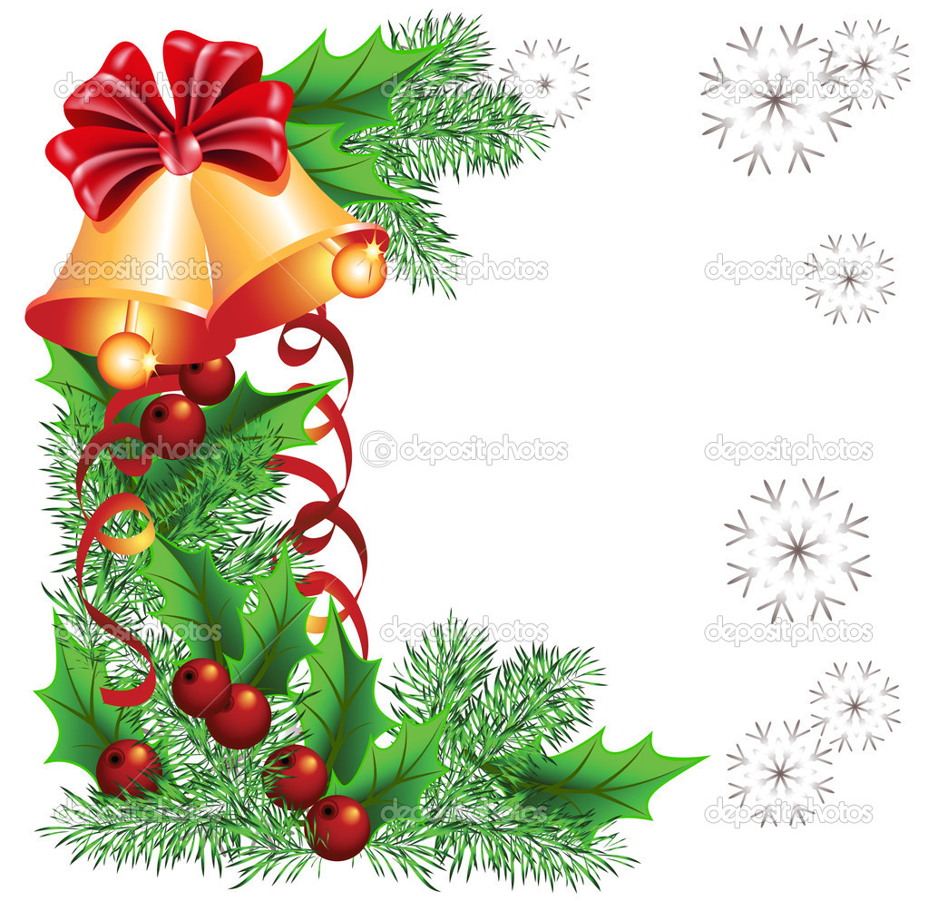 Christmas background with bells — Stock Vector #4517950