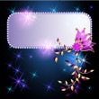Glowing background with transparent flowers and stars - Stock Vector