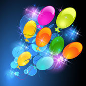 Glowing bckground with balloons — Stock Vector