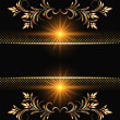 Stock Vector: Background with golden ornament