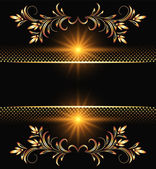 Background with golden ornament — Stock Vector