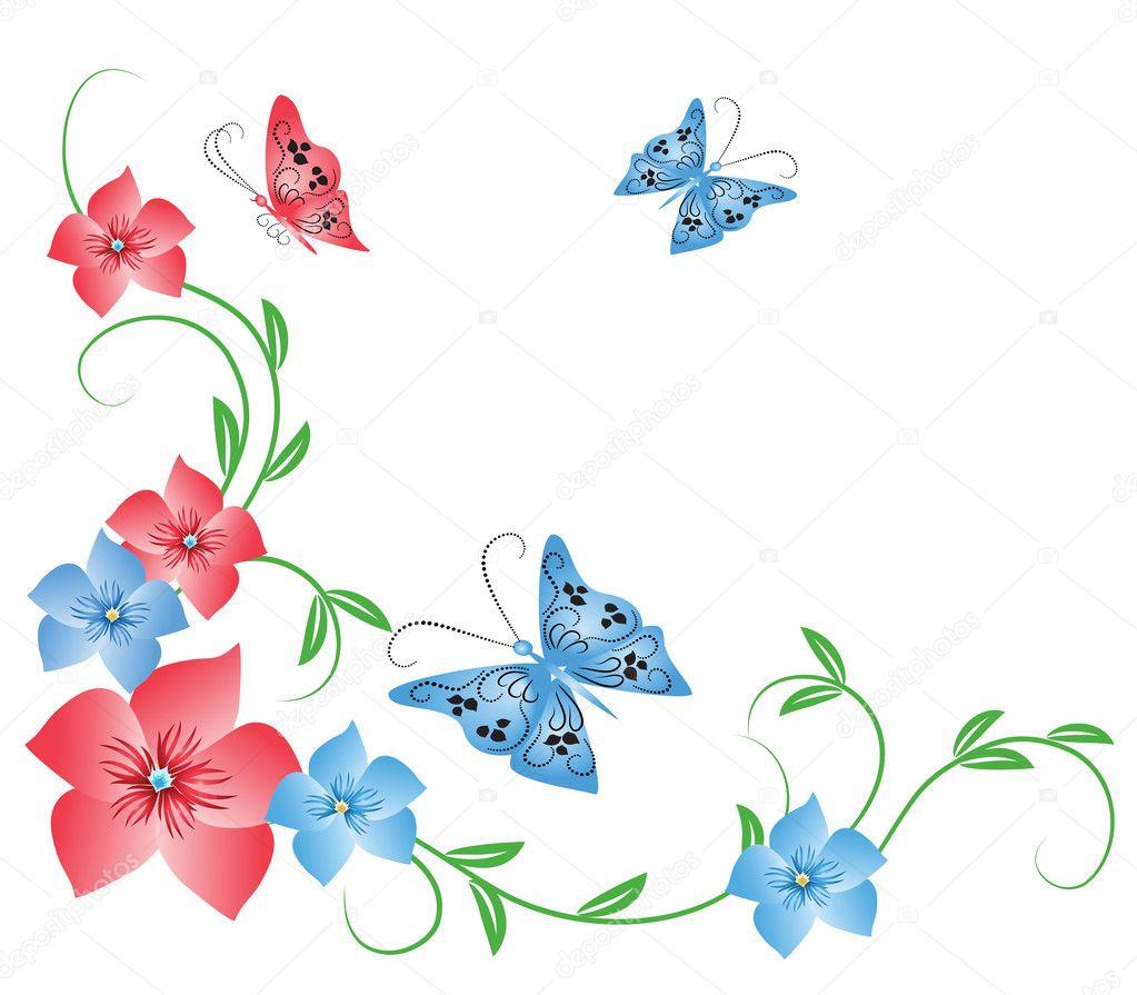 Красивый узор рисунок в цвете