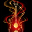 Guitar and smoke — Stock Vector