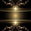 Background with golden ornament — Stock Vector #4986029