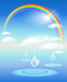 Symbol čisté vody — Stock vektor