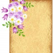 Royalty-Free Stock Vector Image: Grunge background with flowers