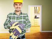 Handyman at work — Stock Photo