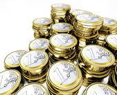Euro coin 3d — Stock Photo