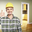 Handyman call me pose — Stock Photo