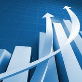 Zakelijke grafiek grafiek — Stockfoto