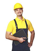 Smiling manual worker — Stock Photo